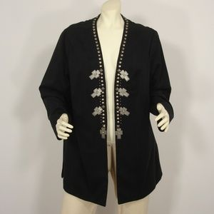 DOUBLE D RANCH CROSS CONCHO STUDS JACKET COAT 2X